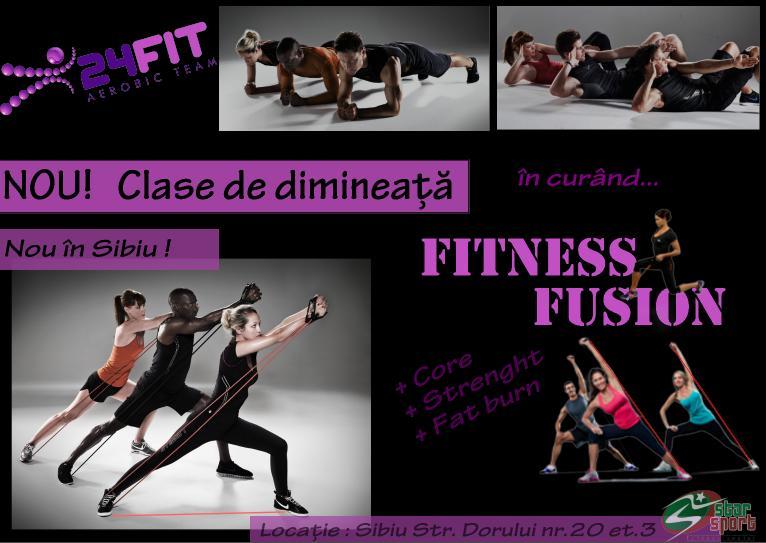 clase de dimineata fitness fusion 24fit